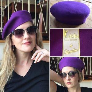 Vintage Purple Beret Borsalino